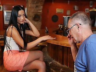 DADDY4K. Man properly nails black-haired raunchy in...